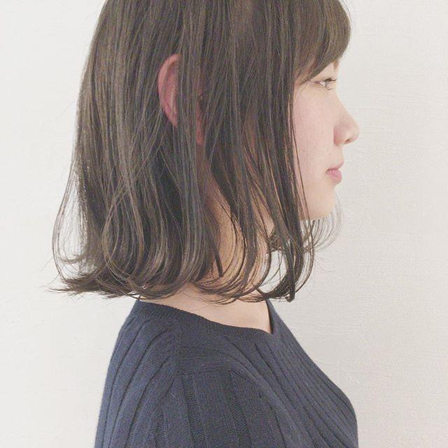 面長さんに似合う髪型7