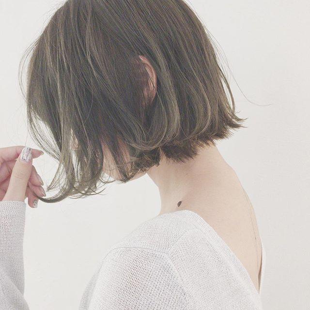 ショートボブに似合うおすすめ髪色12
