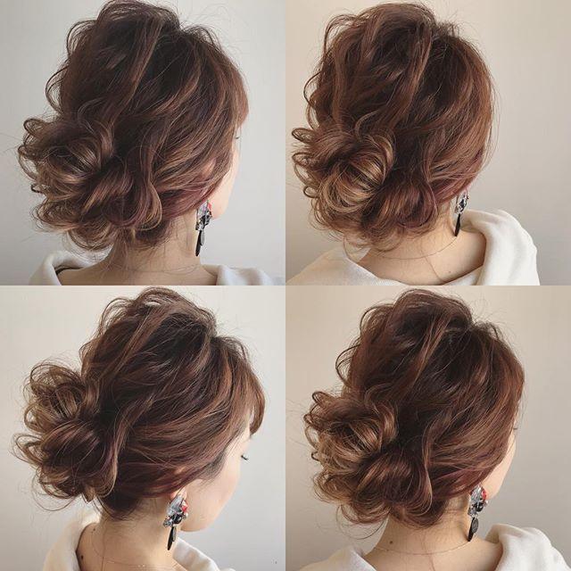 運動会のママの髪型《ミディアムアレンジ》3