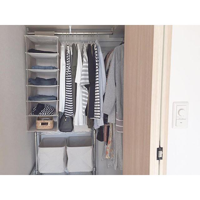 クローゼットの収納方法【洋服】2