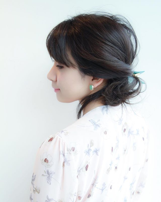 面長さんに似合う髪型9