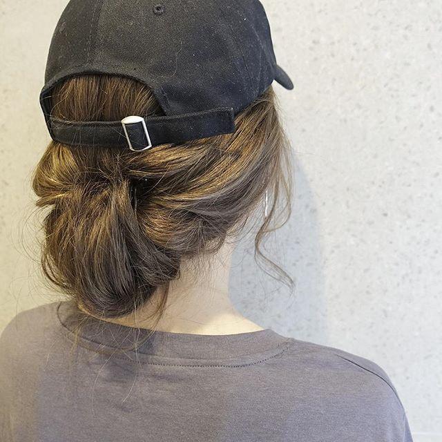 運動会のママの髪型《ミディアムアレンジ》