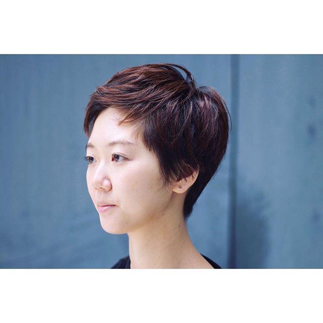 短い前髪×ベリーショート