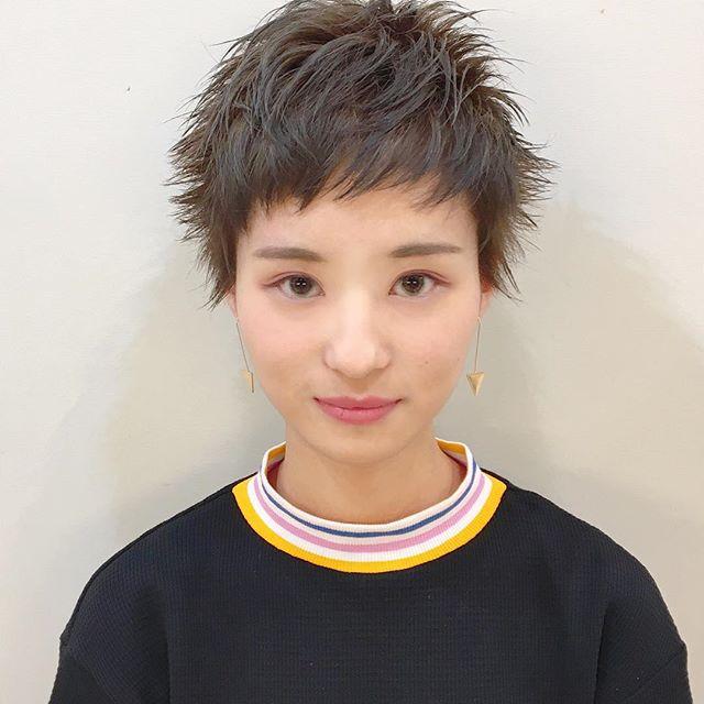 短い前髪×ベリーショート3