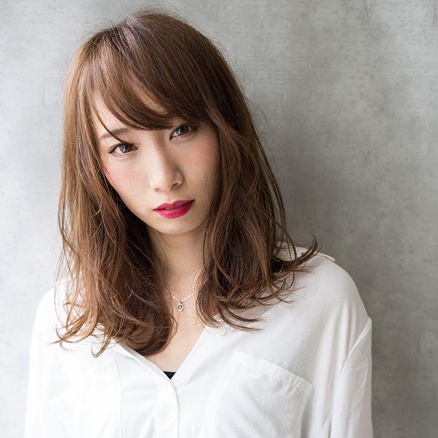【2020秋トレンド前髪】斜めバング2