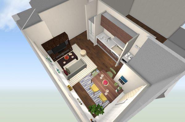 一人暮らし 9畳 家具 レイアウト9