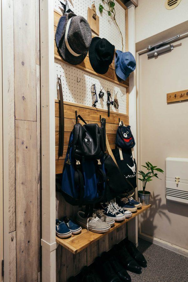 玄関の靴の収納アイディアf