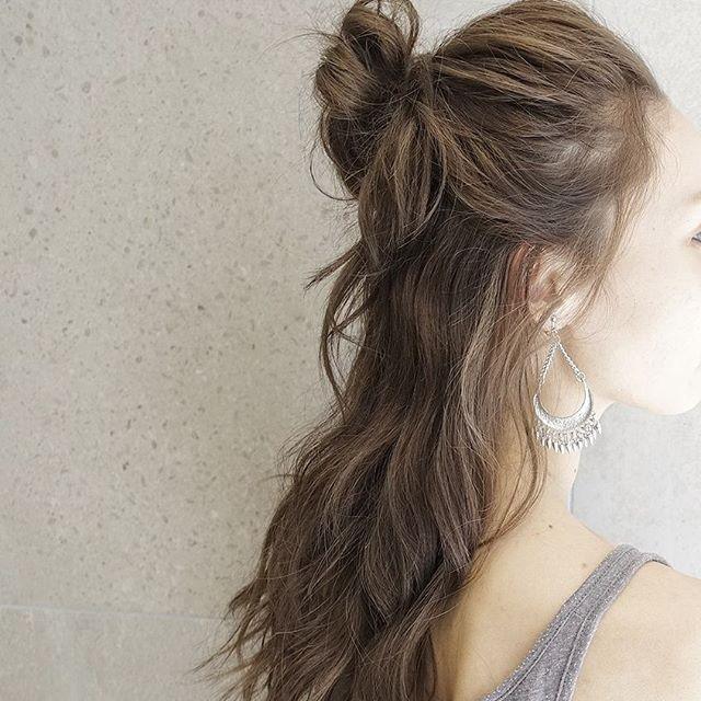 運動会のママの髪型《ミディアムアレンジ》5
