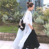 ワンピース×スカートの重ね着コーデ【2020最新】真似したいおしゃれな合わせ方