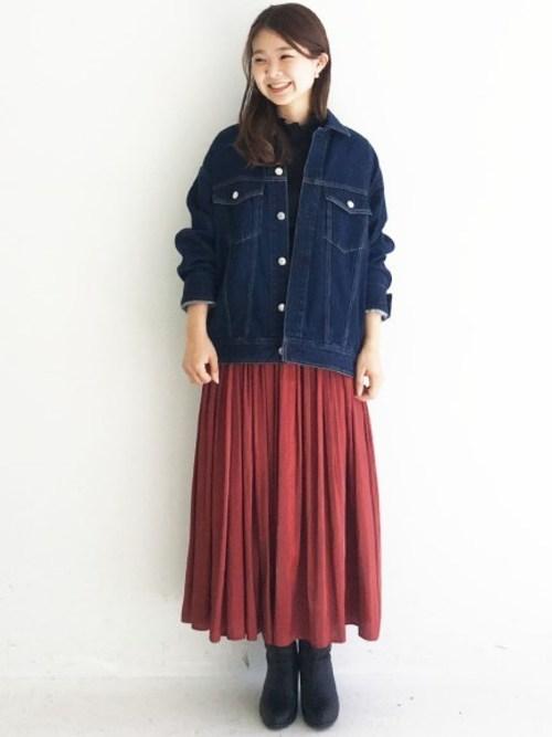 [haco!] 1枚でも重ね着にも便利なキラキラ素材がかわいいロングスカート by laulea