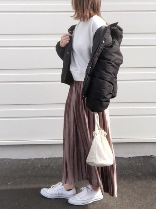 [Doula Doula] ロング プリーツスカート