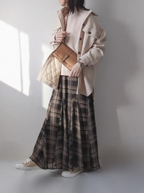 [INTER FACTORY] INTER FACTORY フレアロングスカート