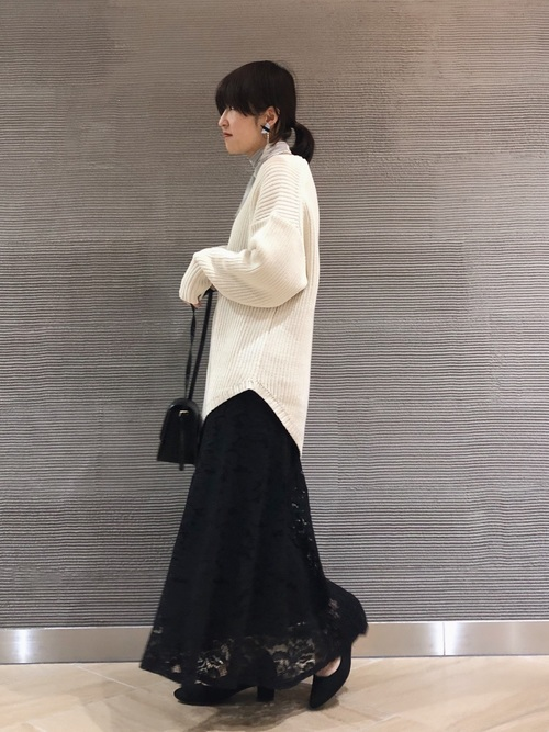 [niko and...] コードレースフレアスカート