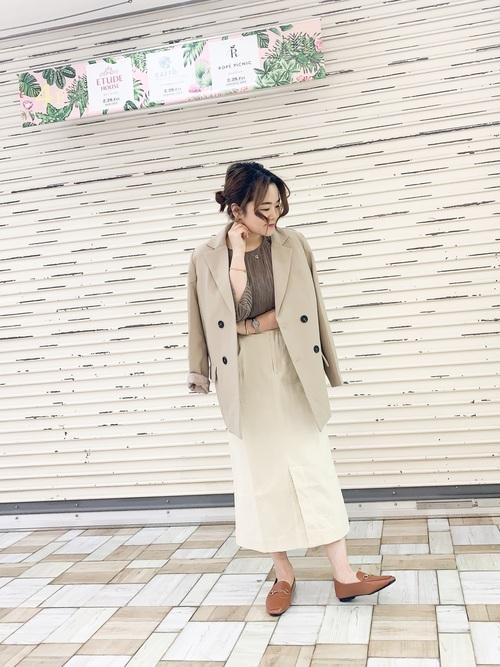 [YARD PLUS/AUNT MARIE'S] AUNT MARIE'S 細コーデュロイスカート