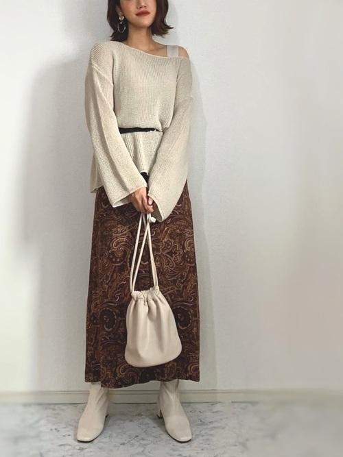 レディース秋コーデ《スカート》