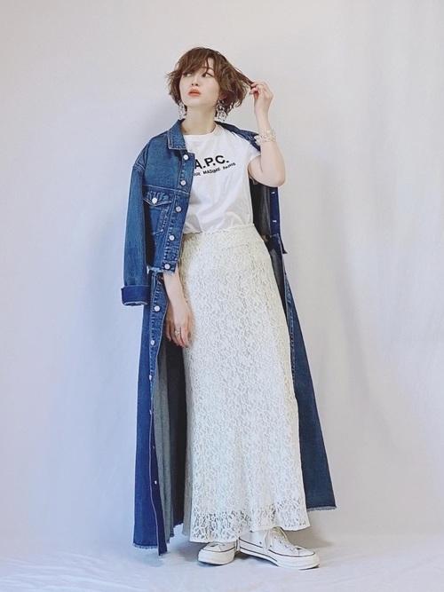 [Ameri VINTAGE] 4WAY DENIM DRESS COAT