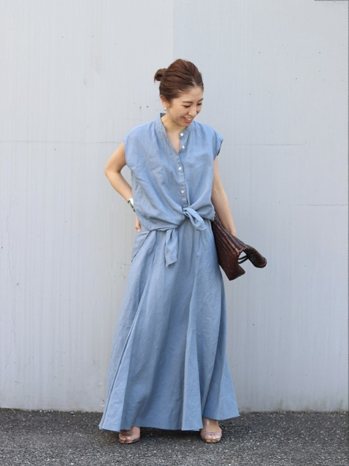 [Plage] Linen Flared スカート◆
