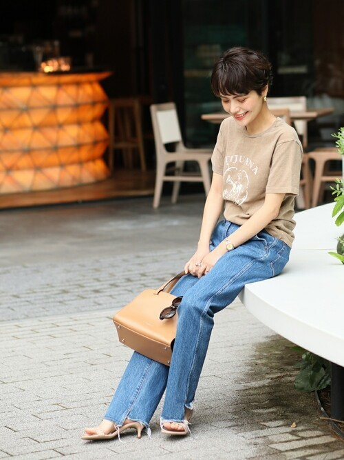 [Spick & Span] 5 1/2 BEAUTY-LINE SLIT DENIM3◆