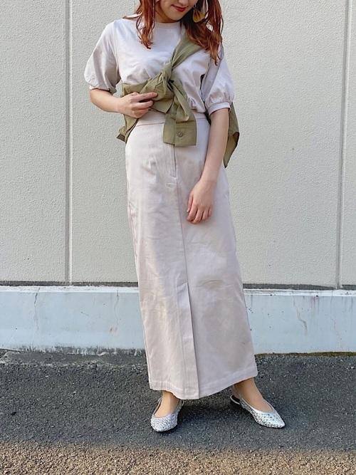 [PAGEBOY] サスツキマキシナロースカート