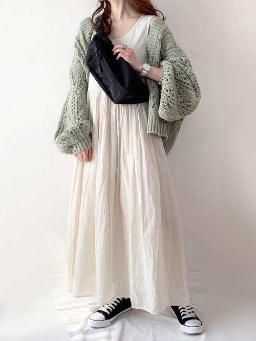 ふんわり袖の可愛い秋コーデ