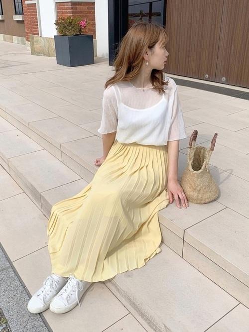 ユニクロのスカートで作るおしゃれな夏コーデ2