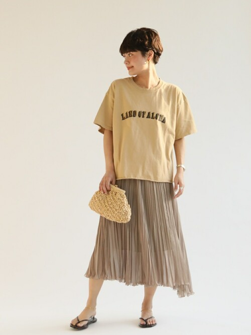 [Spick & Span] シアープリーツスカート◆