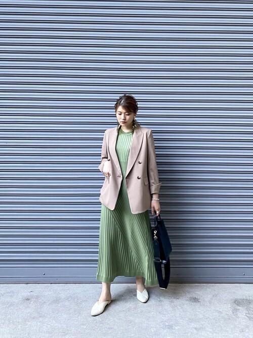[STUDIOUS WOMENS] 【STUDIOUS】 ハイストレッチダブルブレストジャケット/セットアップ対応