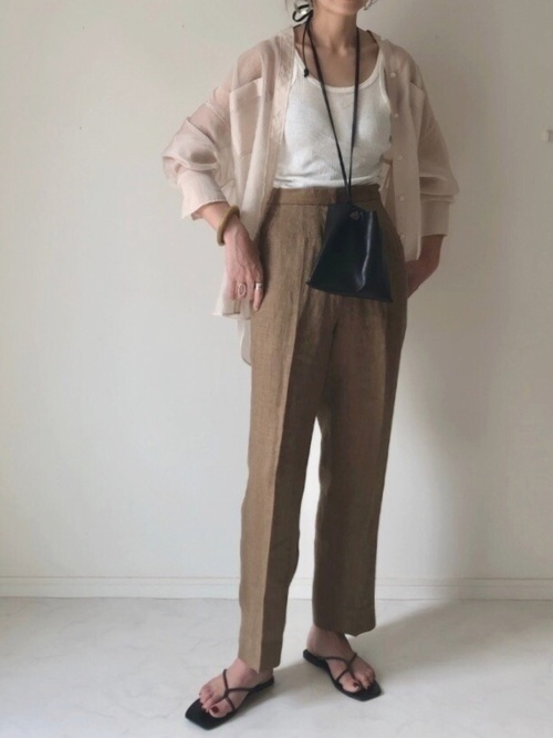 "[CANAL JEAN] TODAYFUL(トゥデイフル) ""Herringbone Linen Trousers""ヘリンボーンリネントラウザーズ/12010706"
