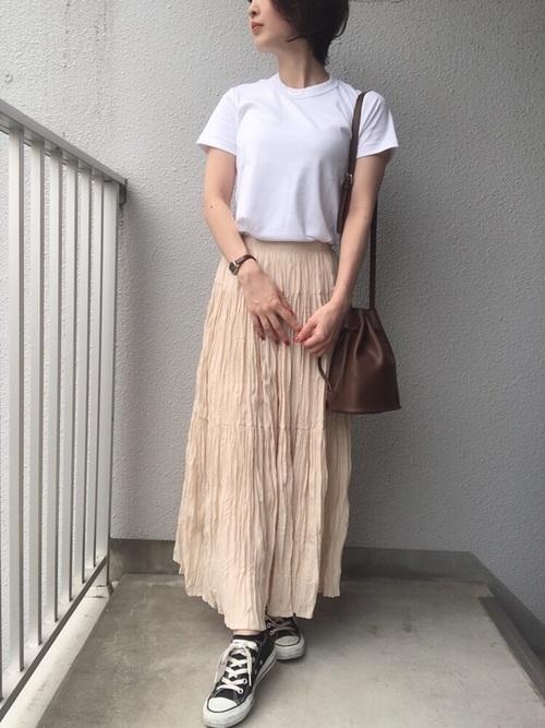ユニクロ プチプラスカート 大人女子6