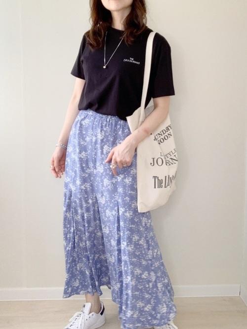 プリントマーメイドスカート