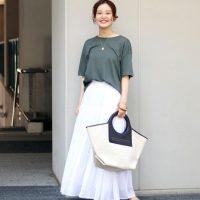 白ロングスカートコーデ【2020最新】大人の垢抜けファッションをご紹介♪