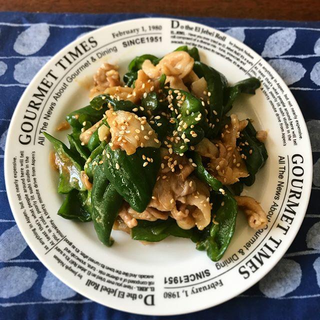 和食レシピに!ピーマンと豚肉の味噌炒め
