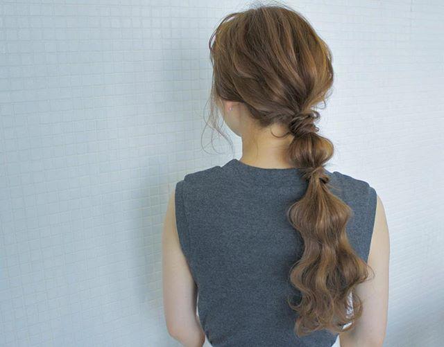 運動会のママの髪型《ロングアレンジ》4