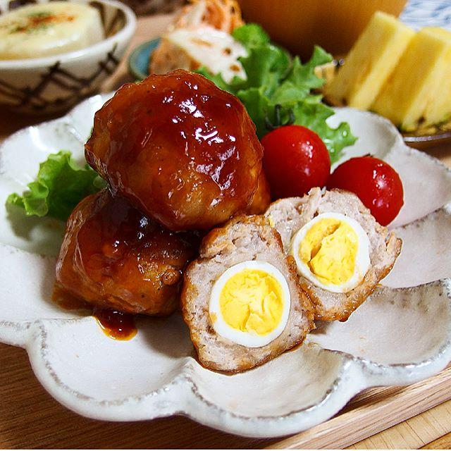 幼稚園のお弁当に!うずらの卵で豚こまミートボール