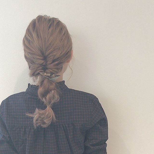 運動会のママの髪型《ミディアムアレンジ》2