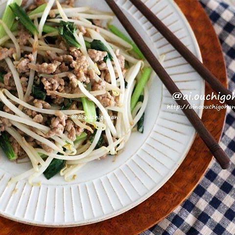 人気のご飯が進む中華!もやしの肉味噌炒め