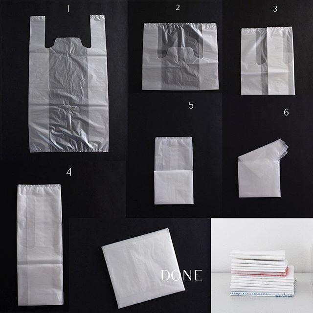 ビニール袋をすっきりと畳むコツ