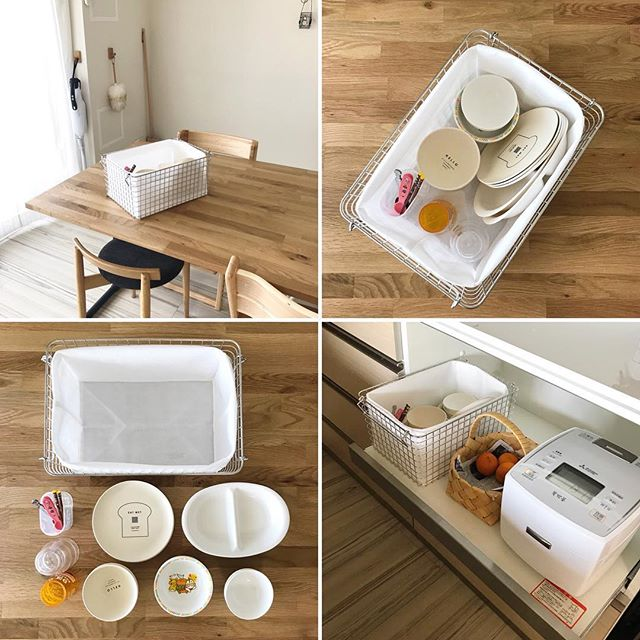 子どもの食器をひとまとめにする収納方法