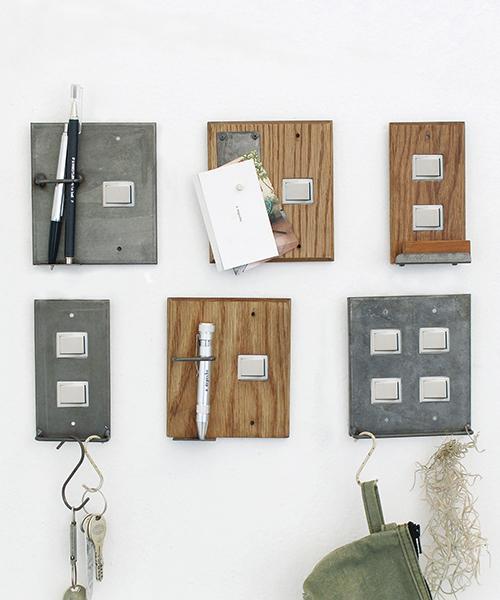 [a.depeche] iron pen holder switch plate 1口 / アイアン ペンホルダースウィッチプレート 1口