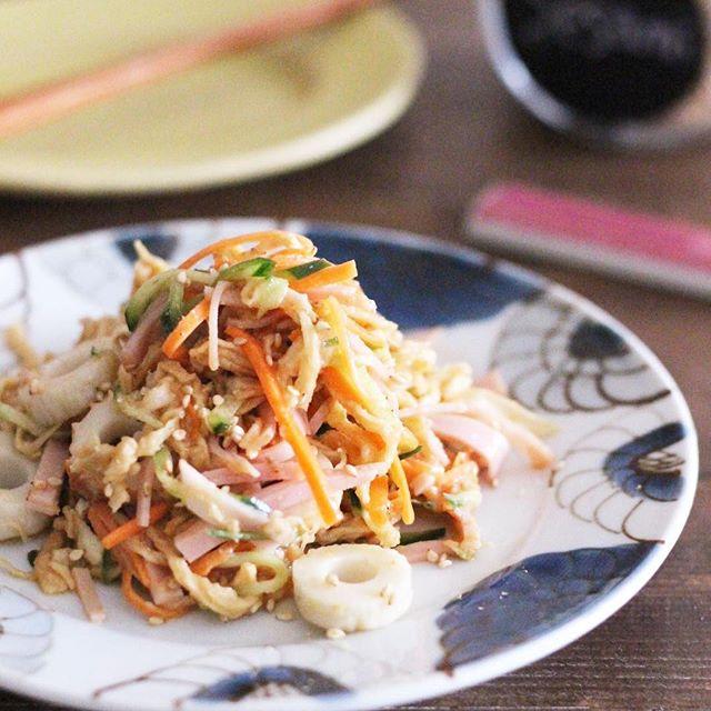人気の料理!切り干し大根とちくわの中華サラダ