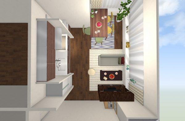 一人暮らし 9畳 家具 レイアウト8