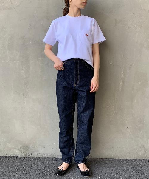 ポケットTシャツのベーシックコーデ