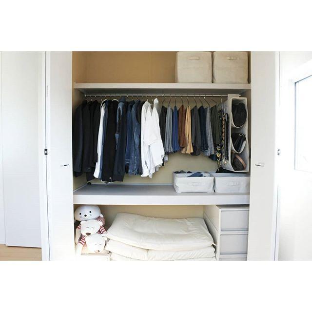 洋服の収納アイデア《クローゼット》2