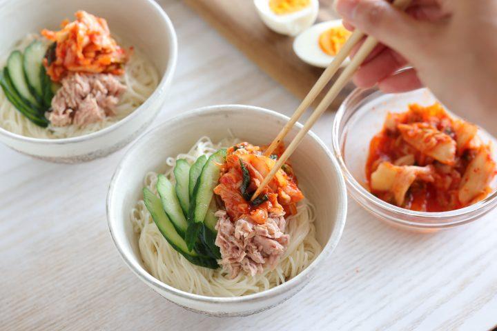 そうめんで簡単!ツナキムチ冷麺6