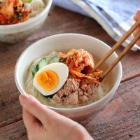 【連載】ムシムシする日はさっぱりごはん!そうめんで作るカンタン冷麺♪