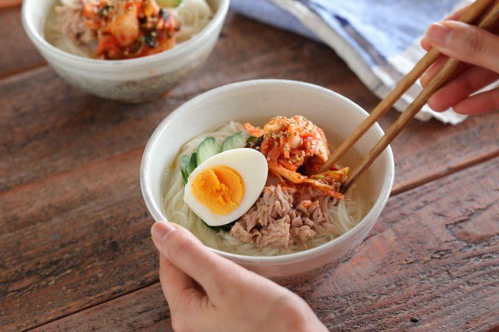 そうめんで簡単!ツナキムチ冷麺7