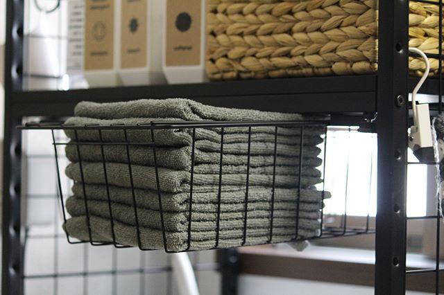 バスケットを使ったタオルの収納方法