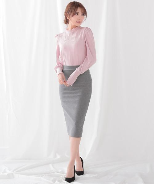 [Ninarobe] ミディアム丈タイトスカート
