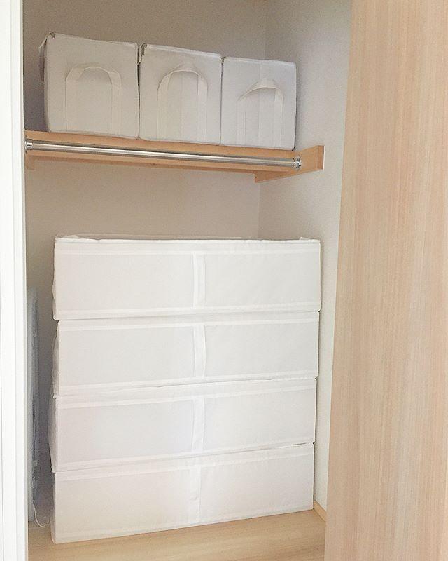 IKEA《SKUBB》を使った押入れ収納3