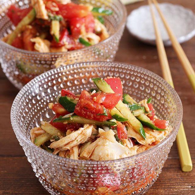 中華風!人気で簡単なよだれ鶏のピリ辛サラダ